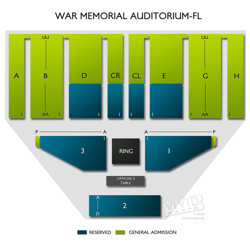 War Memorial Auditorium Fl Tickets War Memorial