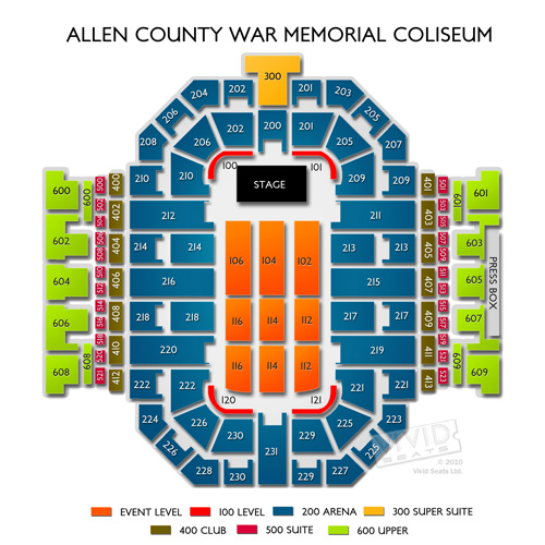 Allen County War Memorial Coliseum Tickets Allen County