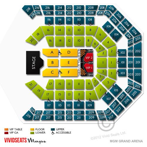 Mgm Grand Garden Arena Layout