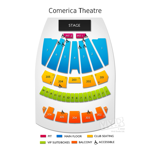 Comerica theatre seating a guide to the phoenix events center