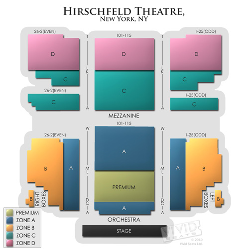Al hirschfeld theatre a seating guide for kinky boots and other