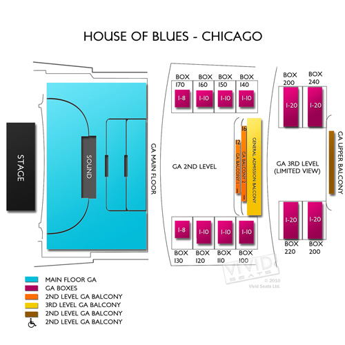 House of blues chicago venue layout