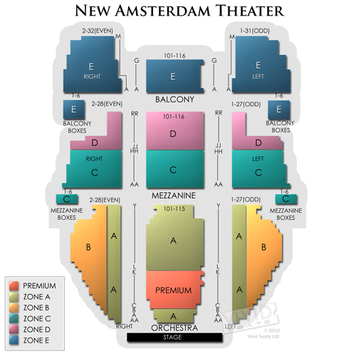 New Amsterdam Theater Tickets New Amsterdam Theater