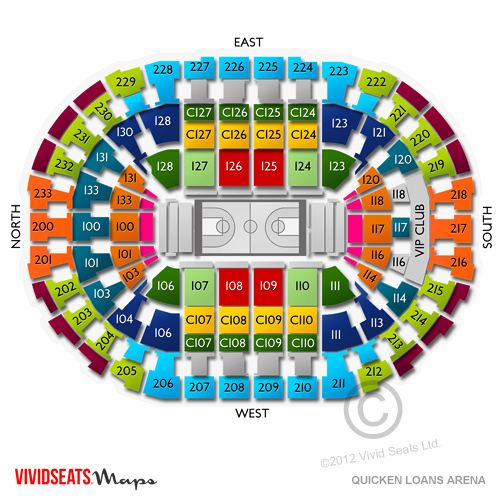 Quicken loans arena concerts seating guide for live music in