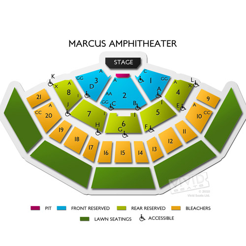 American family insurance amphitheater seating guide for summerfest