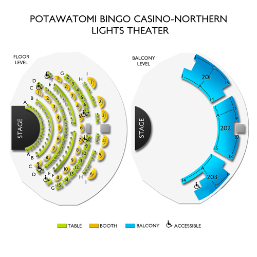 Potawatomi Bingo Casino-Northern Lights Theater