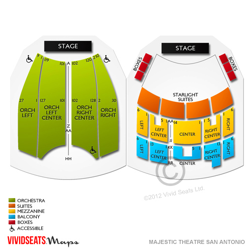 Majestic Theatre San Antonio Seating Guide For Upcoming