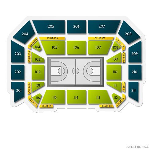Secu Arena Seating Chart Vivid Seats