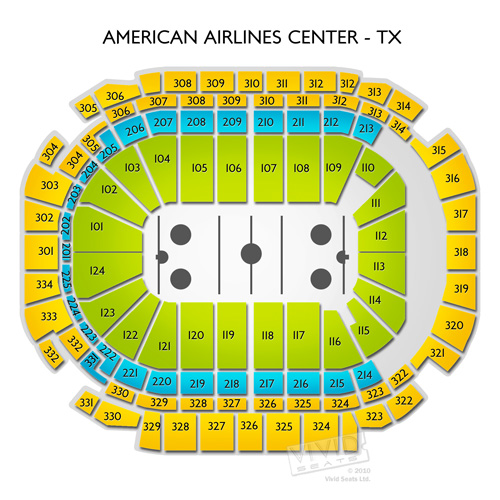 american airlines center floor level seating views