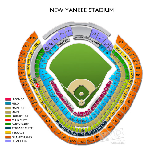 Yankee stadium concerts seating chart and concert schedule