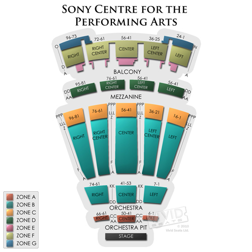 28 Sony Centre Seating Chart Massey For