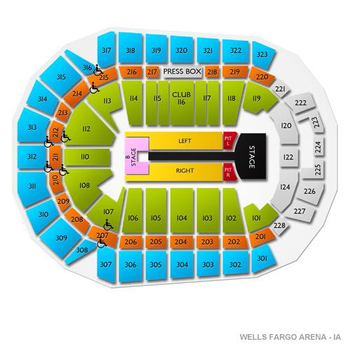 Wells Fargo Arena - Des Moines