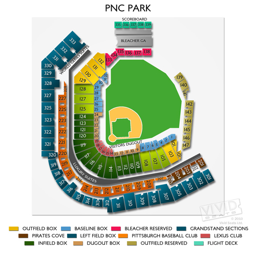 Pnc park detailed seating chart season ticket holders seating
