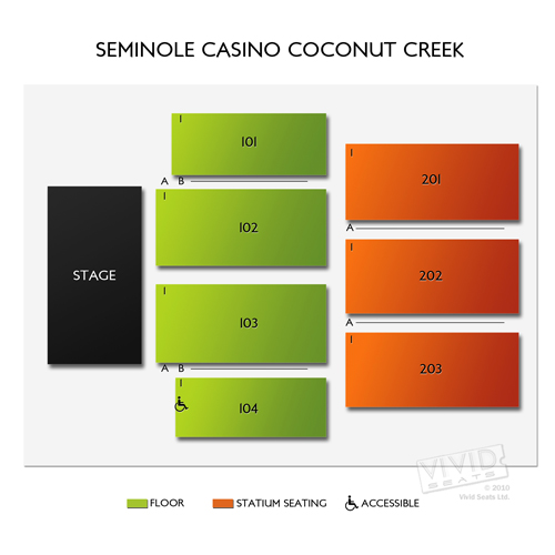 Seminole Coconut Creek Casino Seating Chart