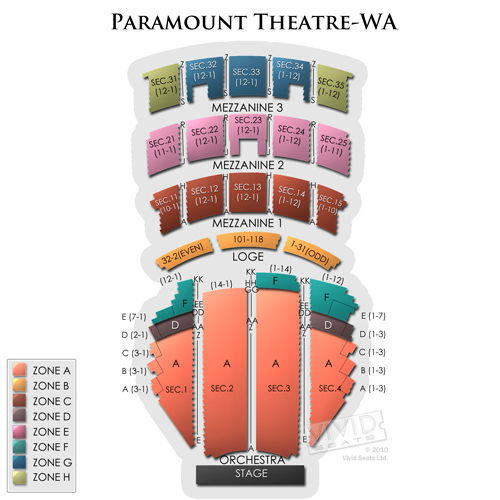 Paramount Theatre Seattle Seating Guide For Concert And Theater