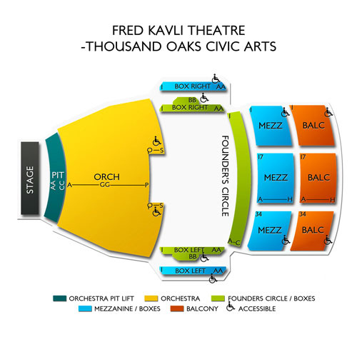 Fred Kavli Theatre Thousand Oaks Civic Arts Seating Chart