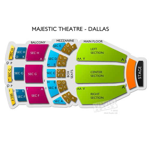 Majestic Theatre Dallas Seating Chart Car Interior Design