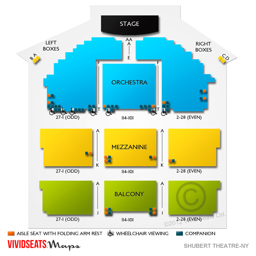 Shubert theatre nyc seating guide for matilda hello dolly and