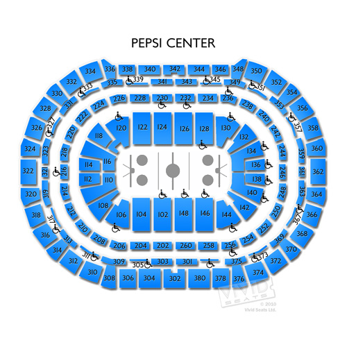 Pepsi center concerts seating chart and events schedule vivid seats