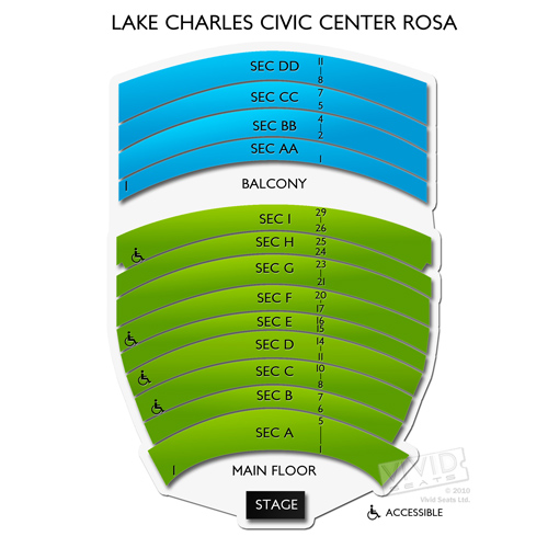 Lake Charles Civic Center Rosa