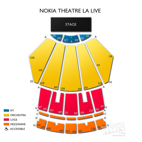 microsoft theater seating a guide for events at the los angeles