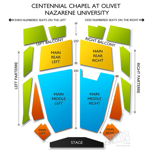 Centennial Chapel at Olivet Nazarene University