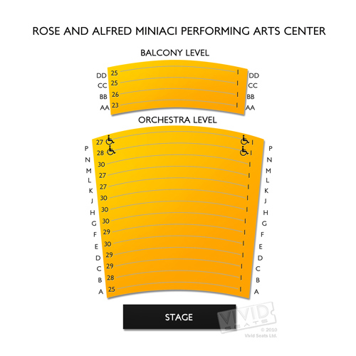 Rose & Alfred Miniaci Performing Arts Center