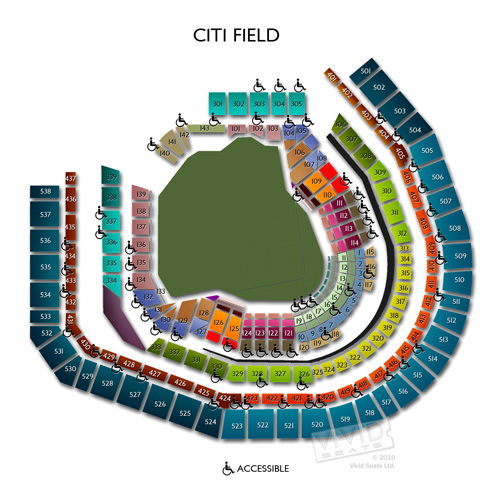 Seating chart and guide for citi field concerts vivid seats
