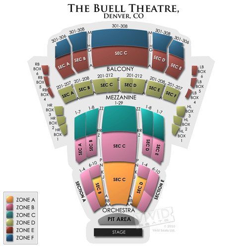 Buell Theatre Seating Chart