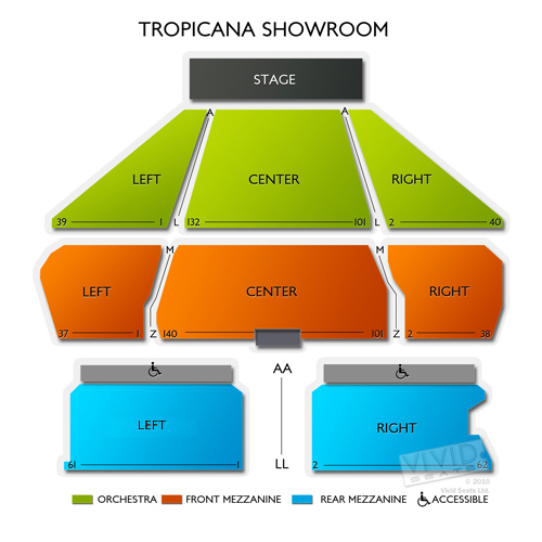 Tropicana casino seating chart bel canto studios personalized