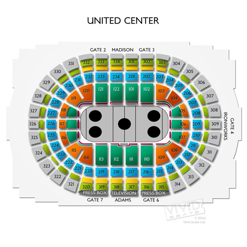 United center concerts seating for chicago s massive music venue