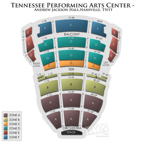 TN Performing Arts Center Andrew Jackson Hall
