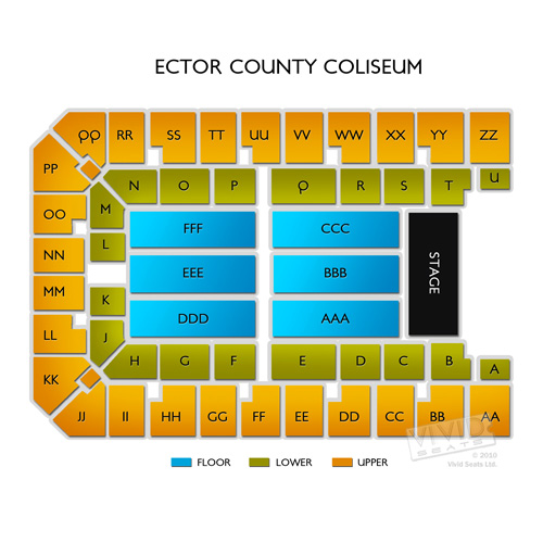 Ector County Coliseum Seating Chart Ector County Coliseum