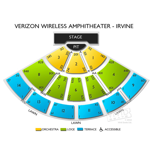 Verizon Wireless Amphitheater Irvine