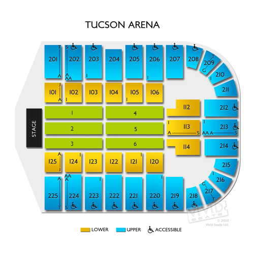 Tucson arena seating chart tucson arena seating chart events in