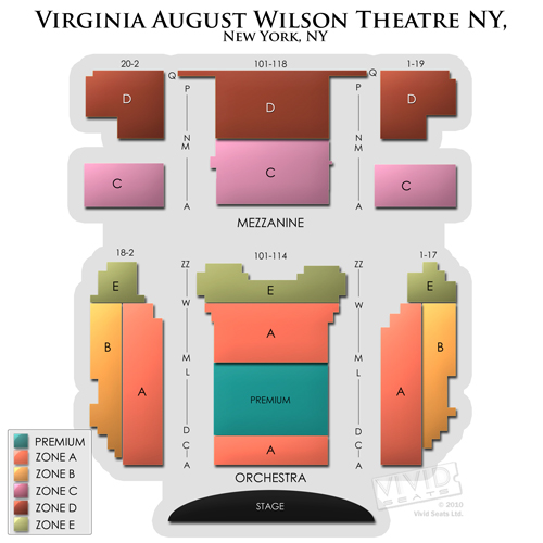 August wilson theatre a seating chart for jersey boys and other