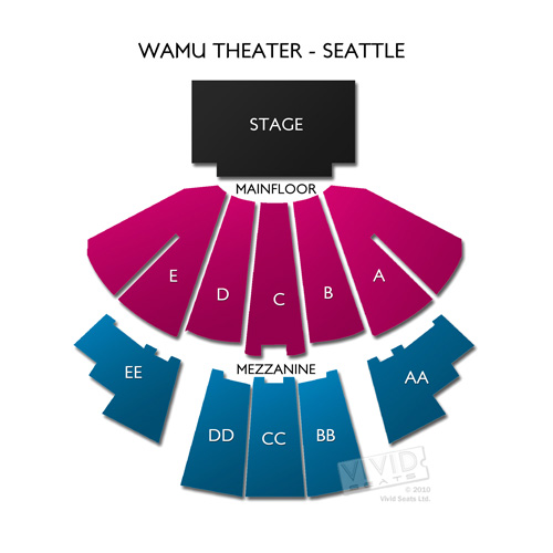 Wamu Theater Seattle Tickets Wamu Theater Seating Chart