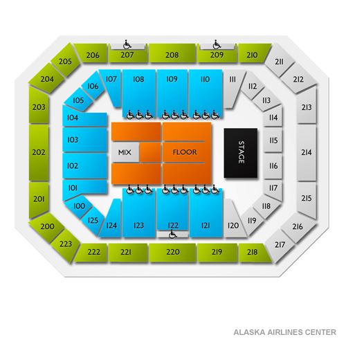Alaska Airlines Center Seating Chart  Vivid Seats