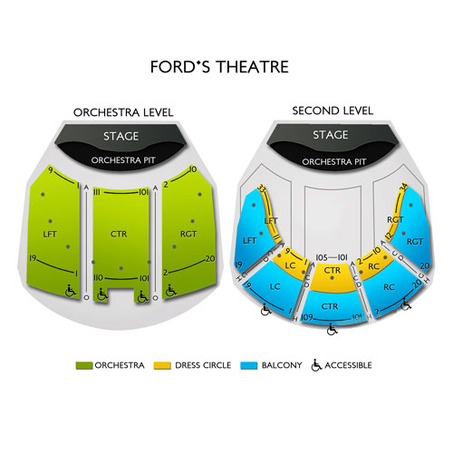 Fords Theatre Seating Chart Vivid Seats