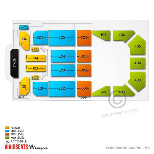 horseshoe casino tunica ms seating chart