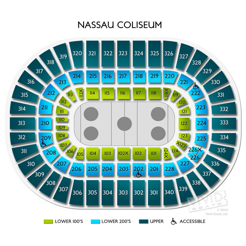 Nassau coliseum seating guide for the renovated long island arena