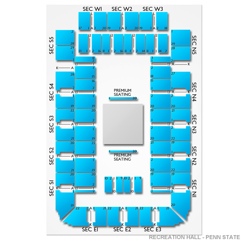 Recreation Hall Penn State Seating Chart Vivid Seats
