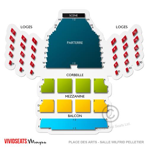 Place Des Arts Salle Wilfrid Pelletier Seating Chart Vivid Seats