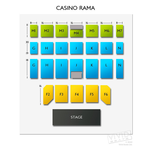 casino rama floor map
