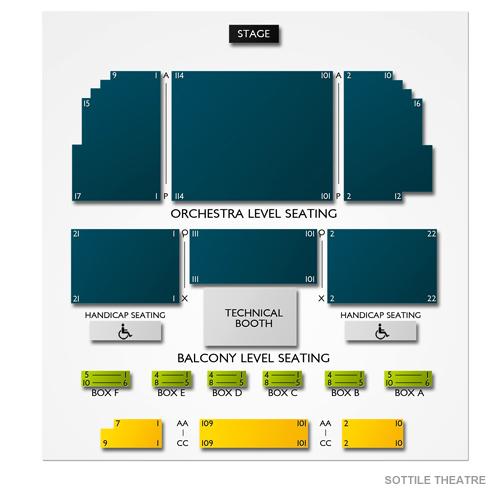 Sottile Theatre Seating Chart Vivid Seats