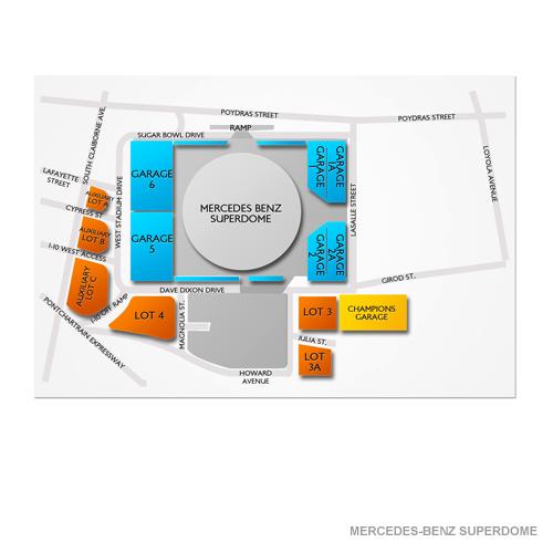 Mercedes benz superdome parking mercedes benz superdome for Mercedes benz superdome parking pass