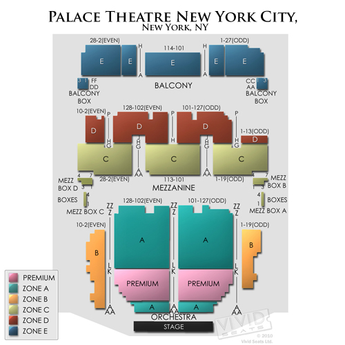 1564 Broadway Nyc Map.Palace Theatre New York Seating Guide For Broadway Shows Vivid Seats
