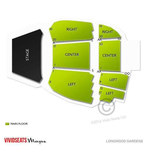 Longwood gardens tickets longwood gardens information longwood gardens seating chart for Longwood gardens discount tickets