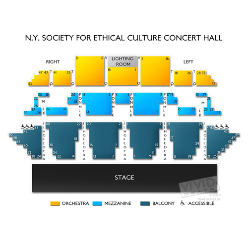NY Society for Ethical Culture - Concert Hall