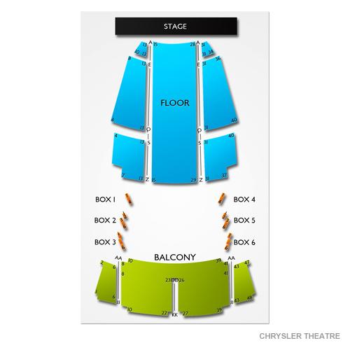 Chrysler Theatre Seating Chart Vivid Seats